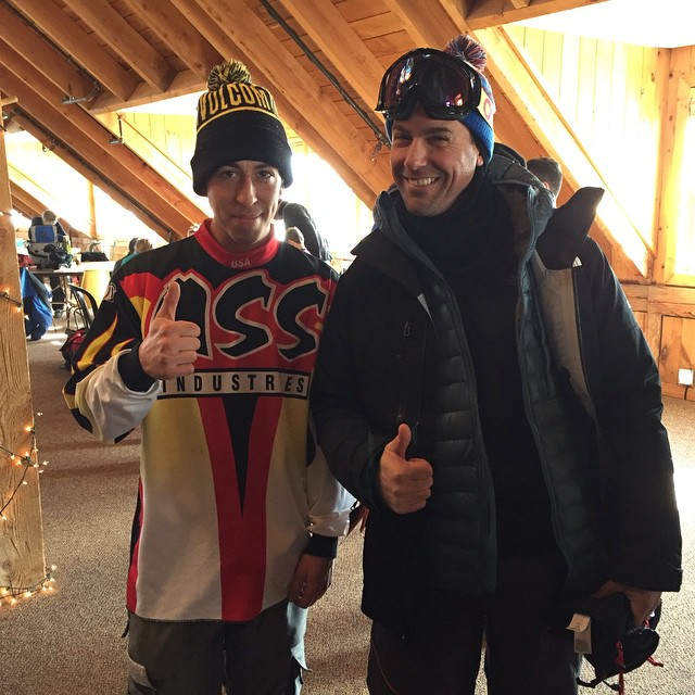 OG Ass Ind. team loc @alexeiconrad hooked @mikerave up with his 1999 team jersey at the @ragged_parks retro mini pipe jam today.  @miasnowboards 📷: @nelsonnhd