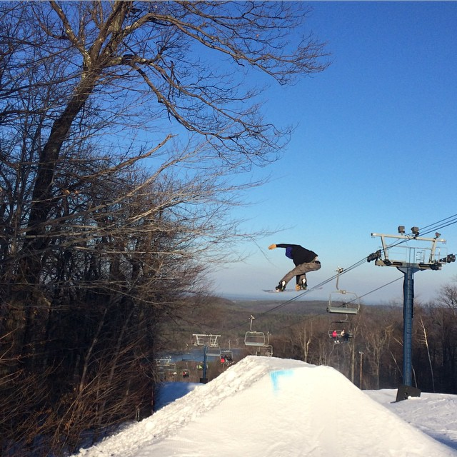 Got boosted with @znormandin @wachusettparks today. #AssGrassorGas