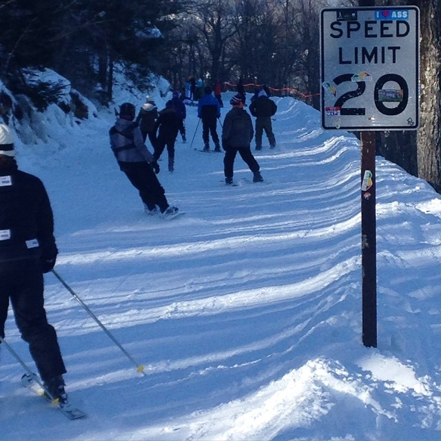 MaSsachusetts state troopers were not needed enforcing the speed limit @wachusettparks today. #Iloveass